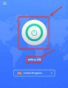 VPN is ON